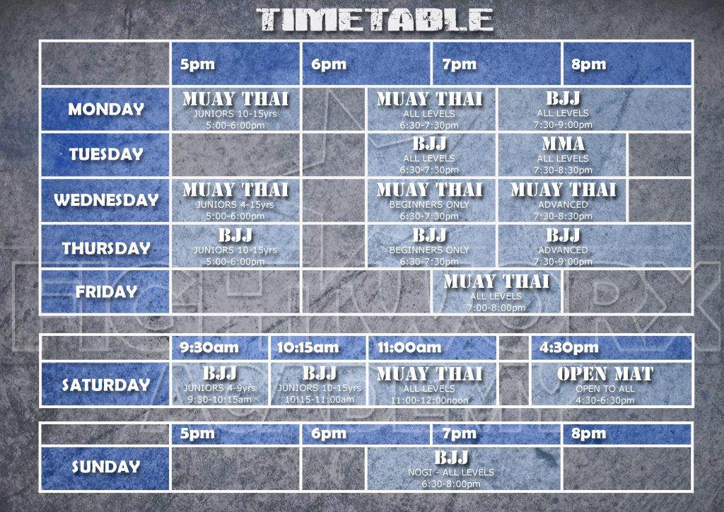 NEW Timetable FULL